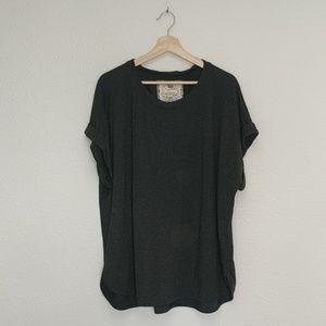 Cupio dark grey short sleeve 1x shirt